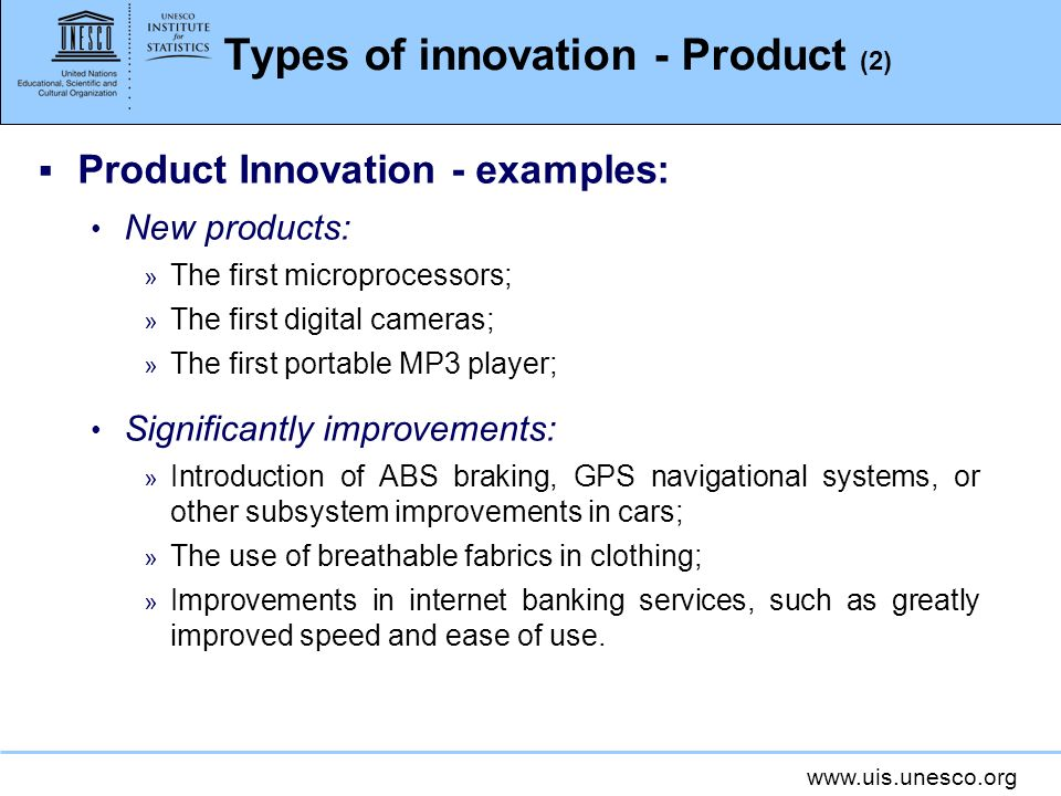 Types of innovation - Product (2)
