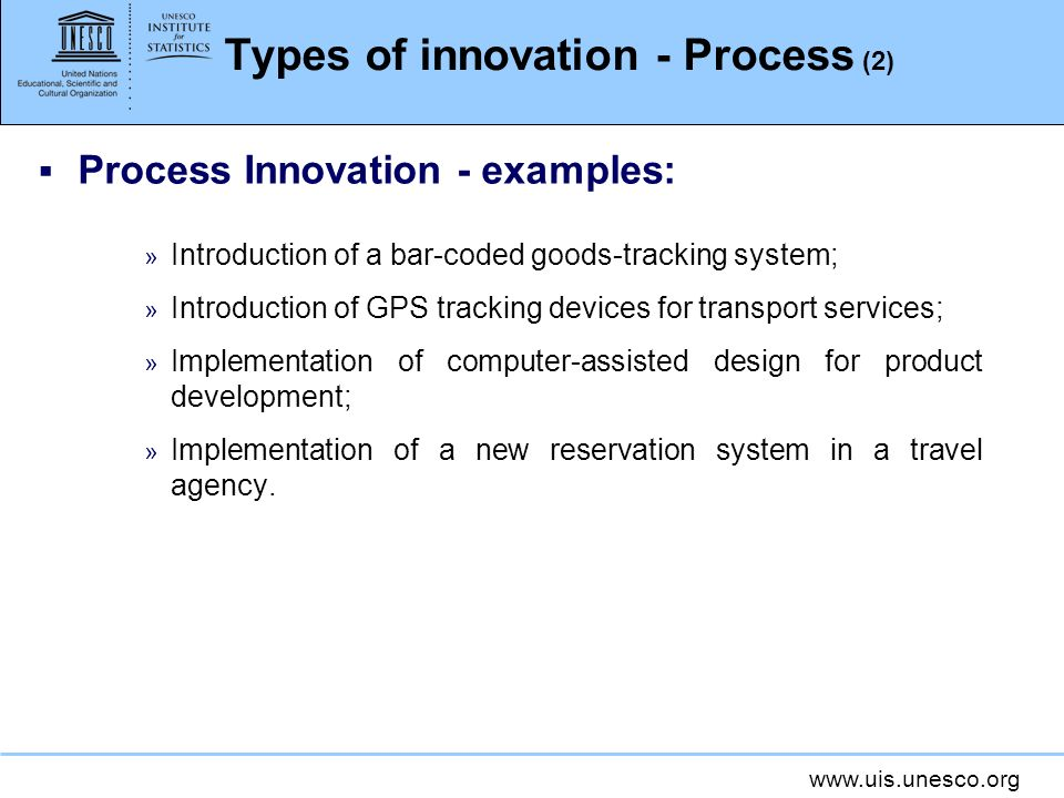 Types of innovation - Process (2)