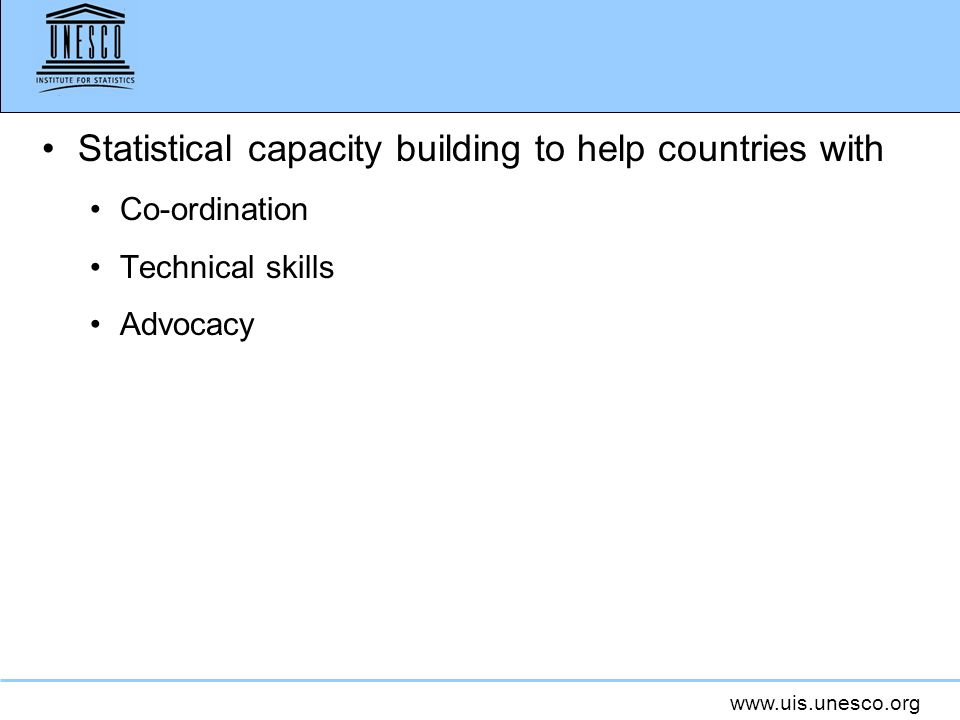 Statistical capacity building to help countries with