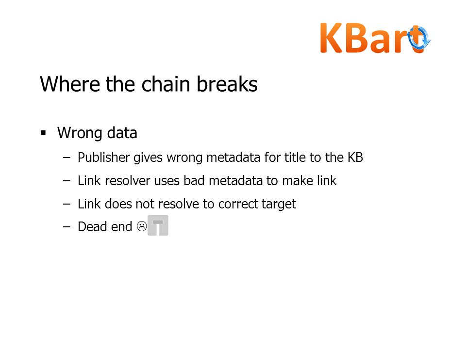 Where the chain breaks Wrong data