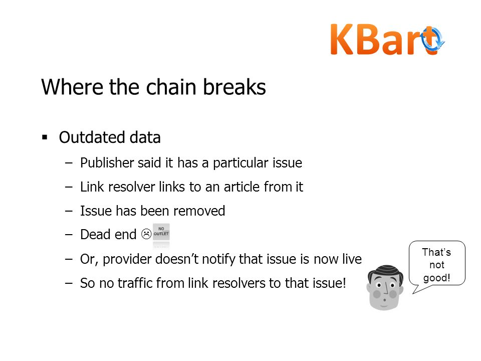 Where the chain breaks Outdated data