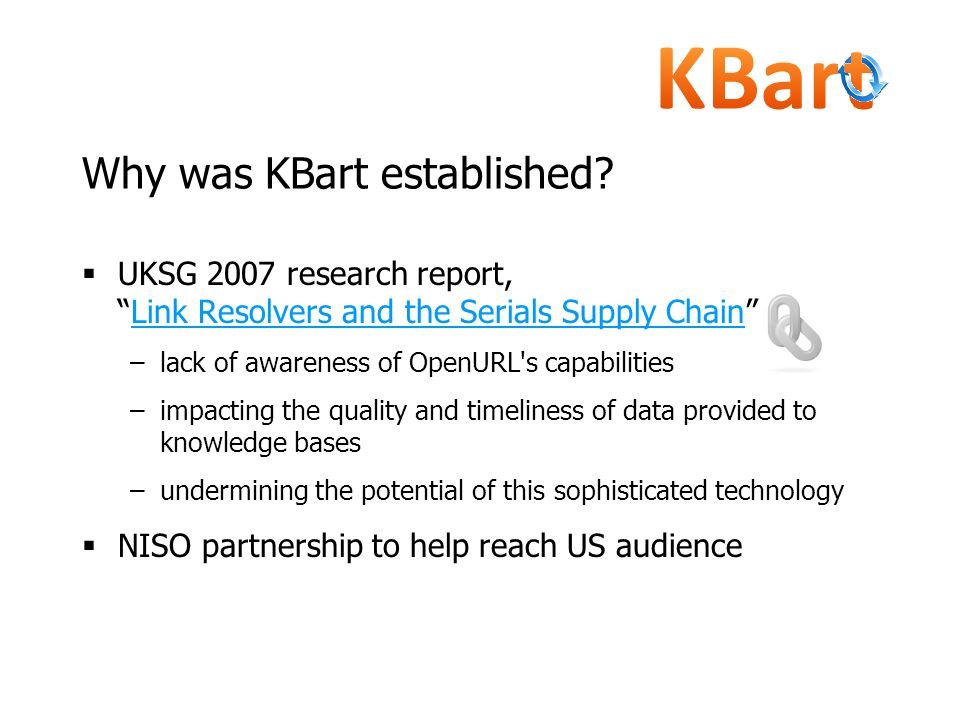 Why was KBart established
