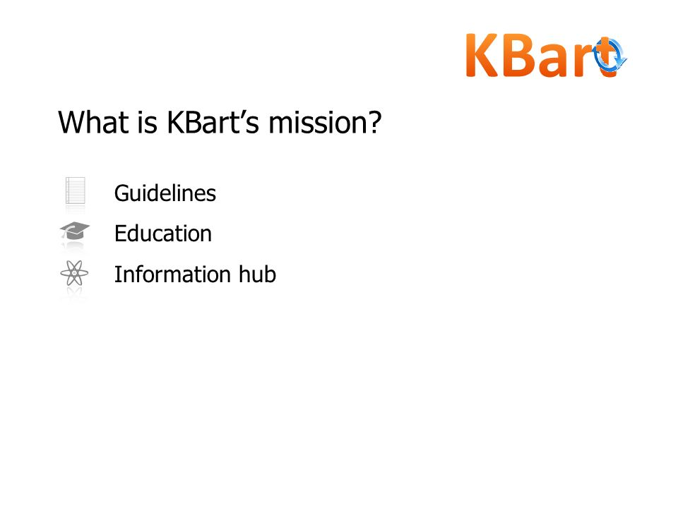 What is KBart's mission