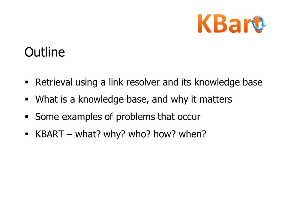 Outline Retrieval using a link resolver and its knowledge base