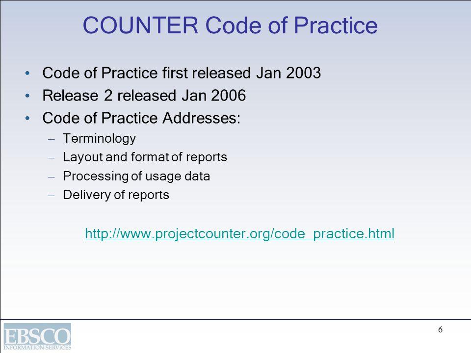 COUNTER Code of Practice