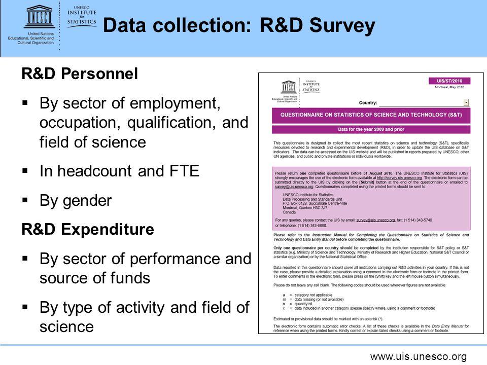 Data collection: R&D Survey