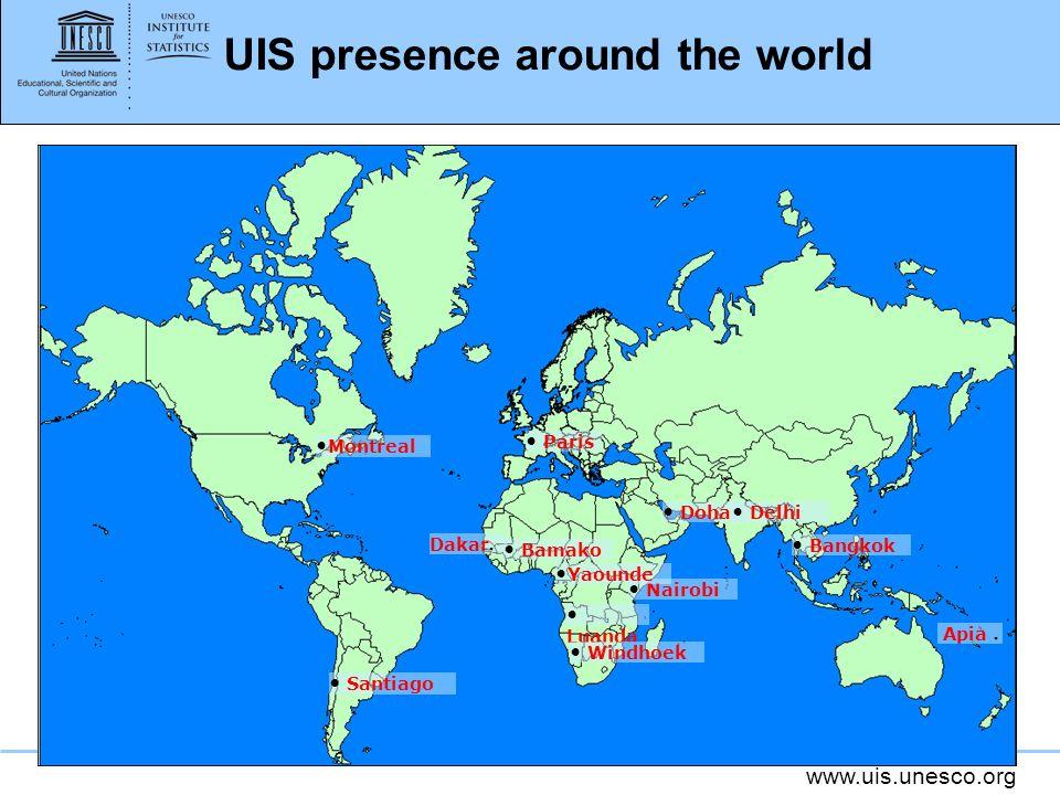 UIS presence around the world