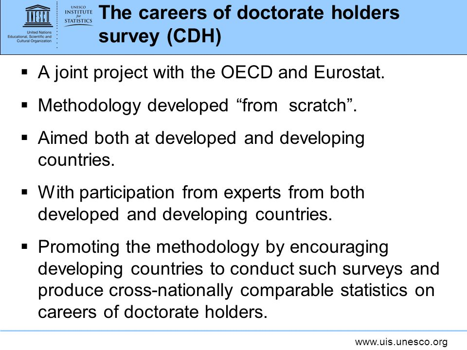 The careers of doctorate holders survey (CDH)