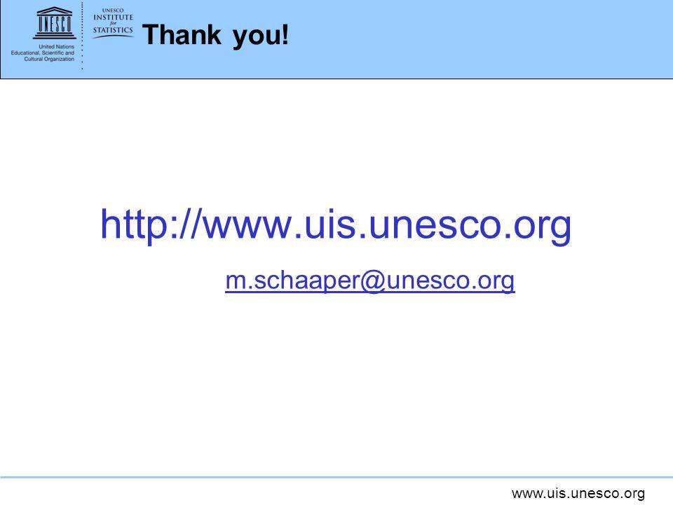 Thank you! http://www.uis.unesco.org m.schaaper@unesco.org
