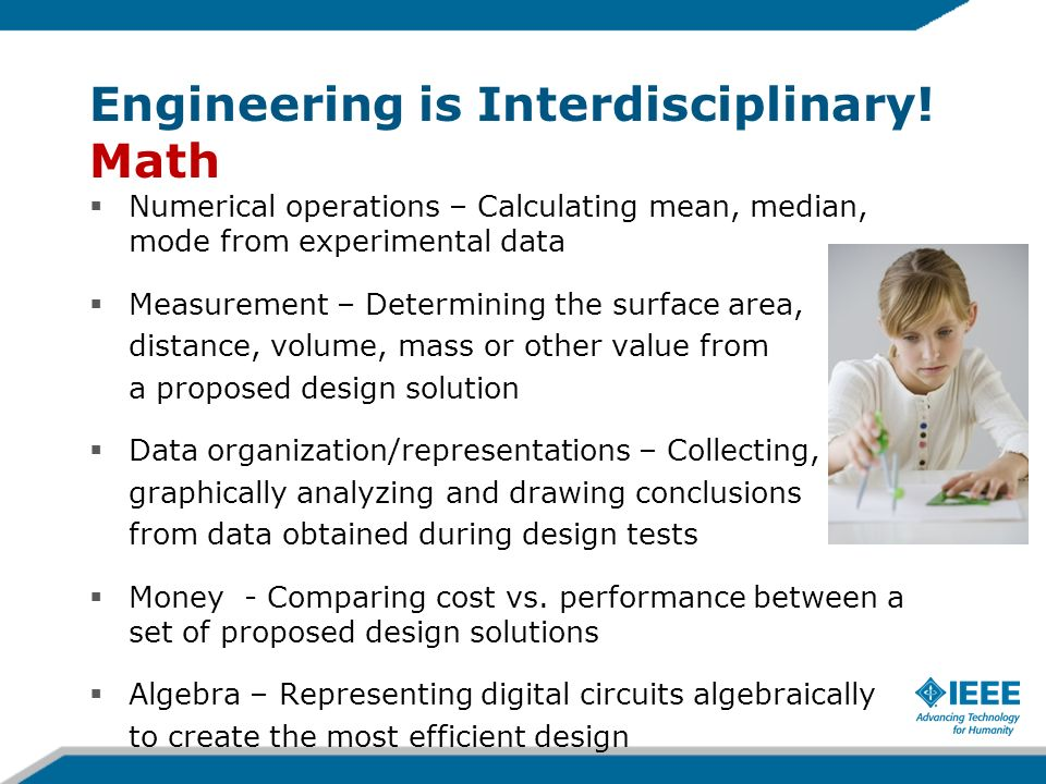 Engineering is Interdisciplinary! Math