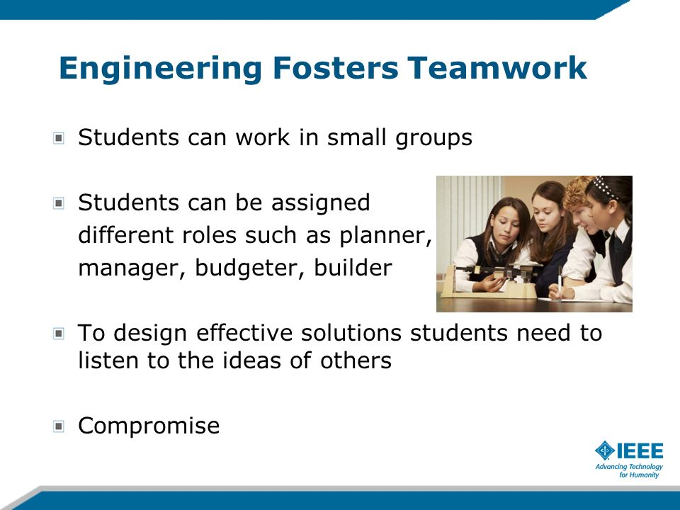 Engineering Fosters Teamwork
