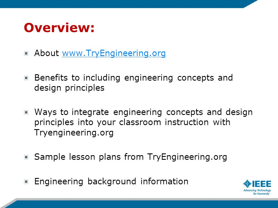 Overview: About www.TryEngineering.org