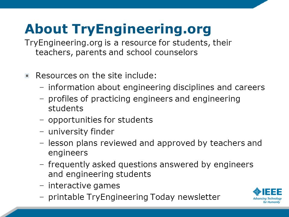 About TryEngineering.org