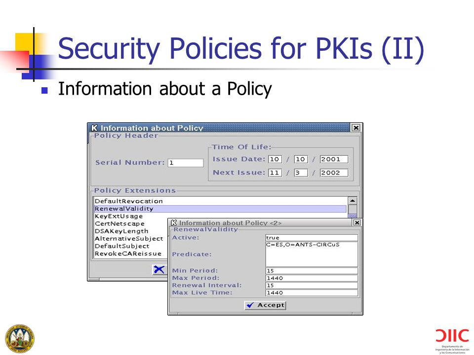 Security Policies for PKIs (II)