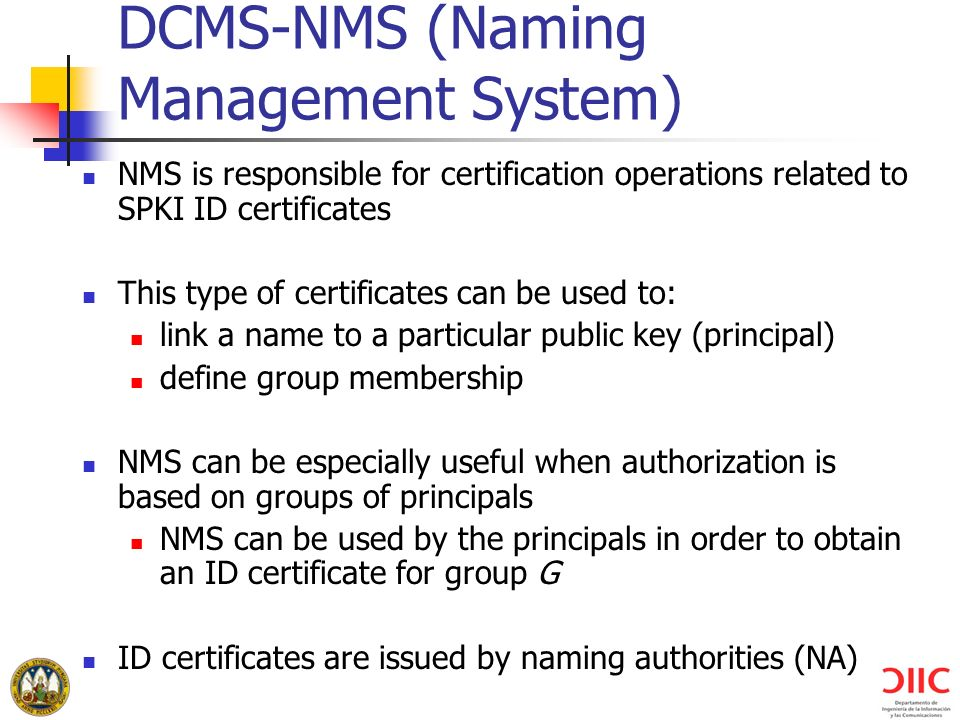 DCMS-NMS (Naming Management System)