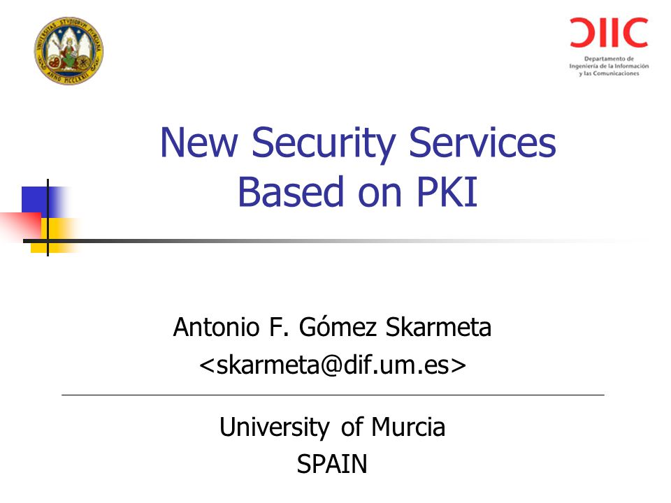 New Security Services Based on PKI