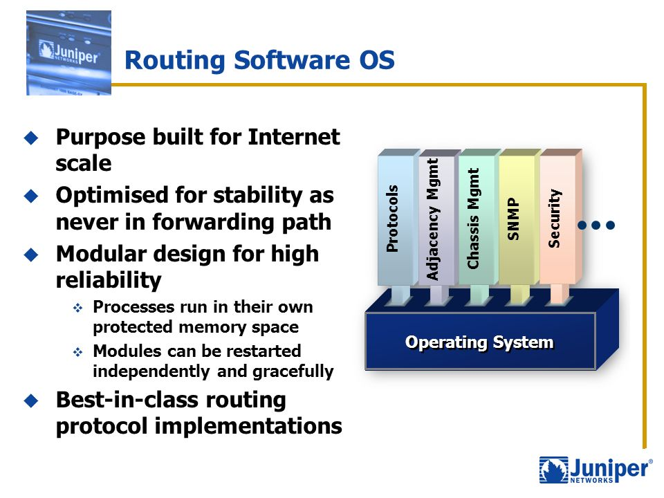 Routing Software OS Purpose built for Internet scale