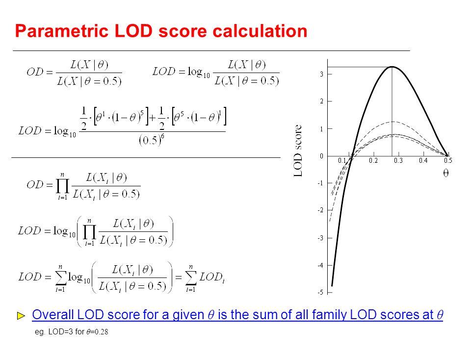 Parametric LOD score calculation