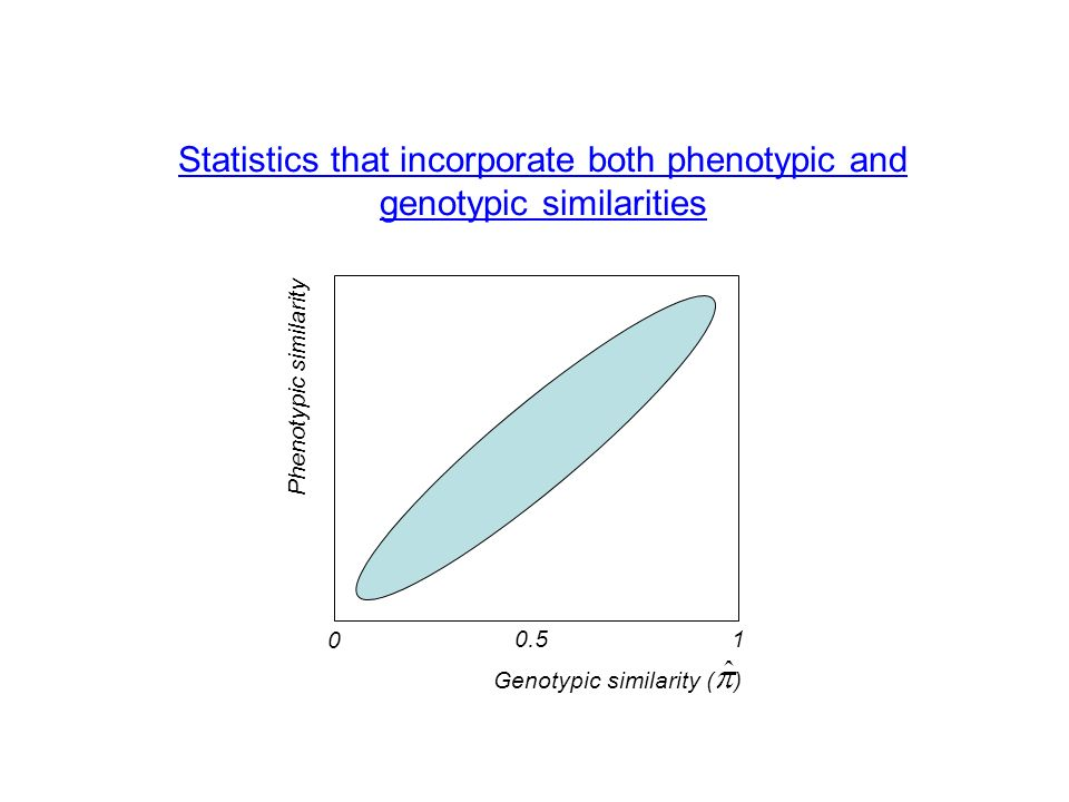Statistics that incorporate both phenotypic and genotypic similarities