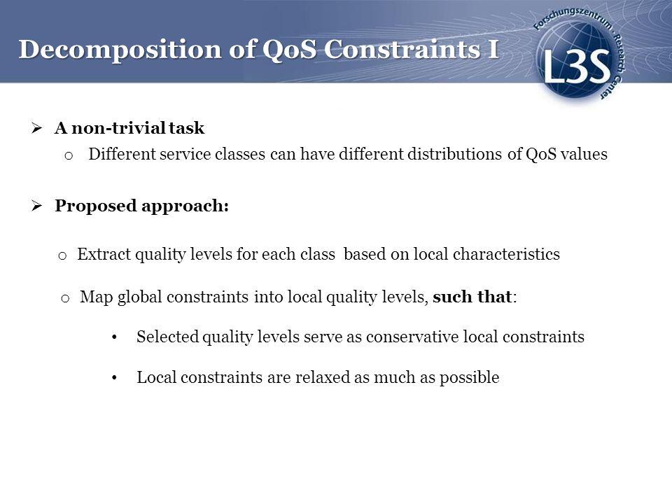 Decomposition of QoS Constraints I