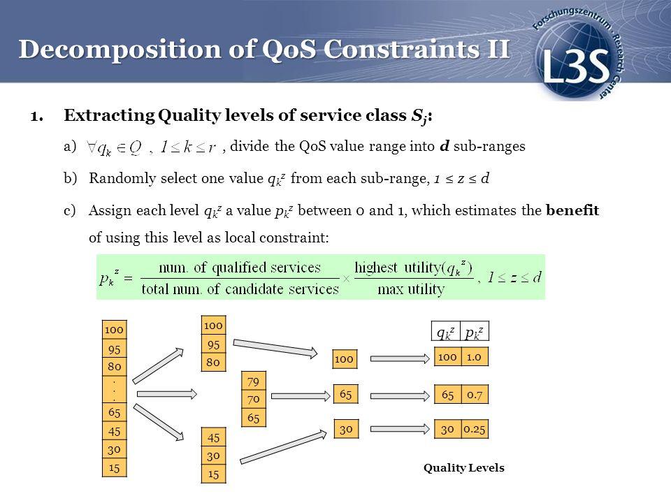 Decomposition of QoS Constraints II