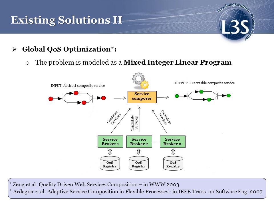 Existing Solutions II Global QoS Optimization*: