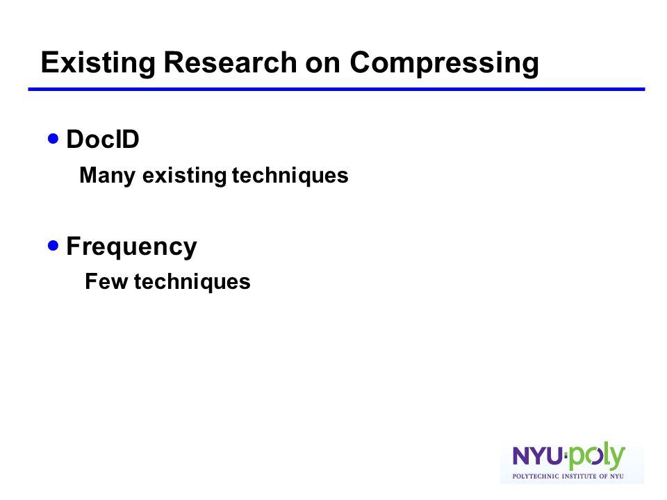 Existing Research on Compressing