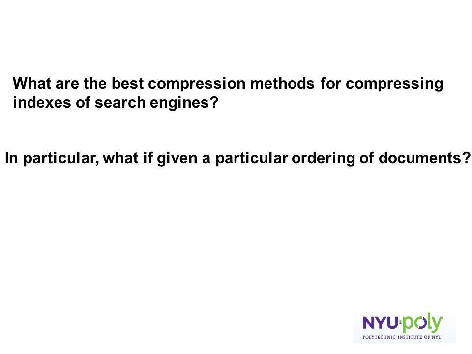 What are the best compression methods for compressing