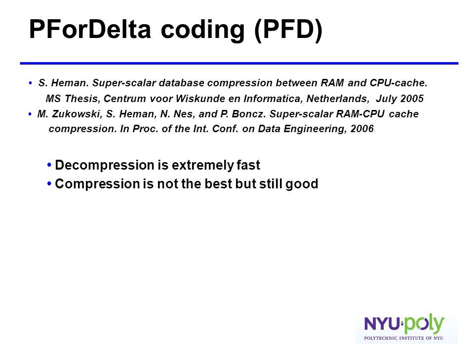 PForDelta coding (PFD)