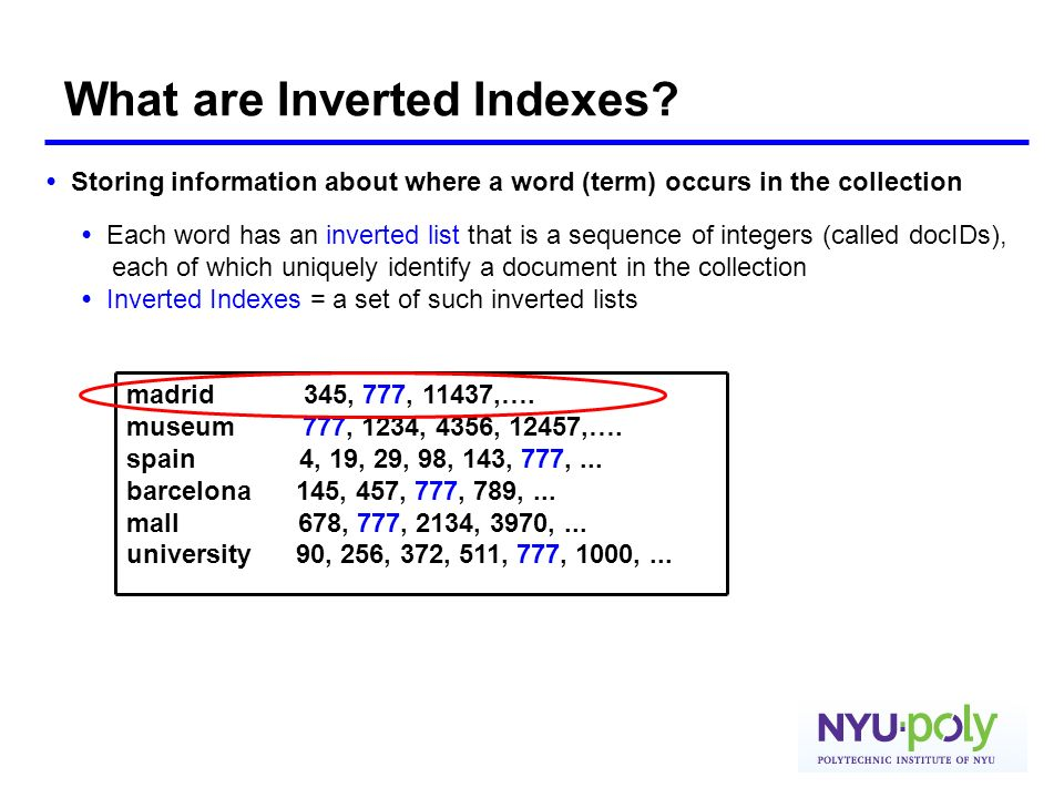 What are Inverted Indexes