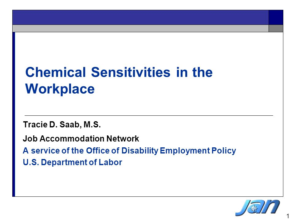 Chemical Sensitivities in the Workplace