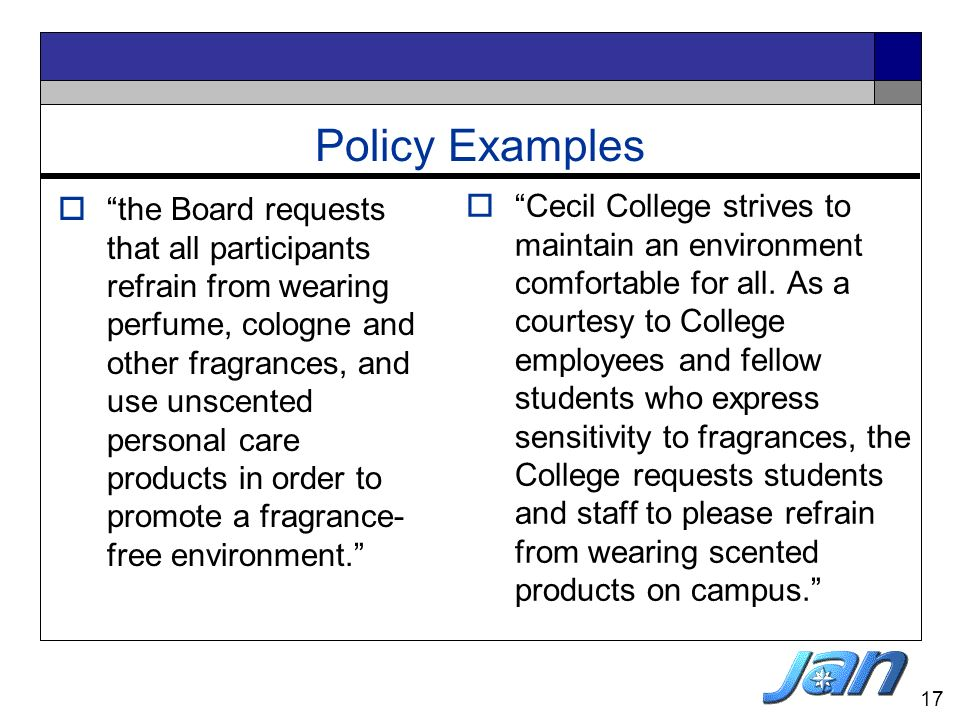 Policy Examples