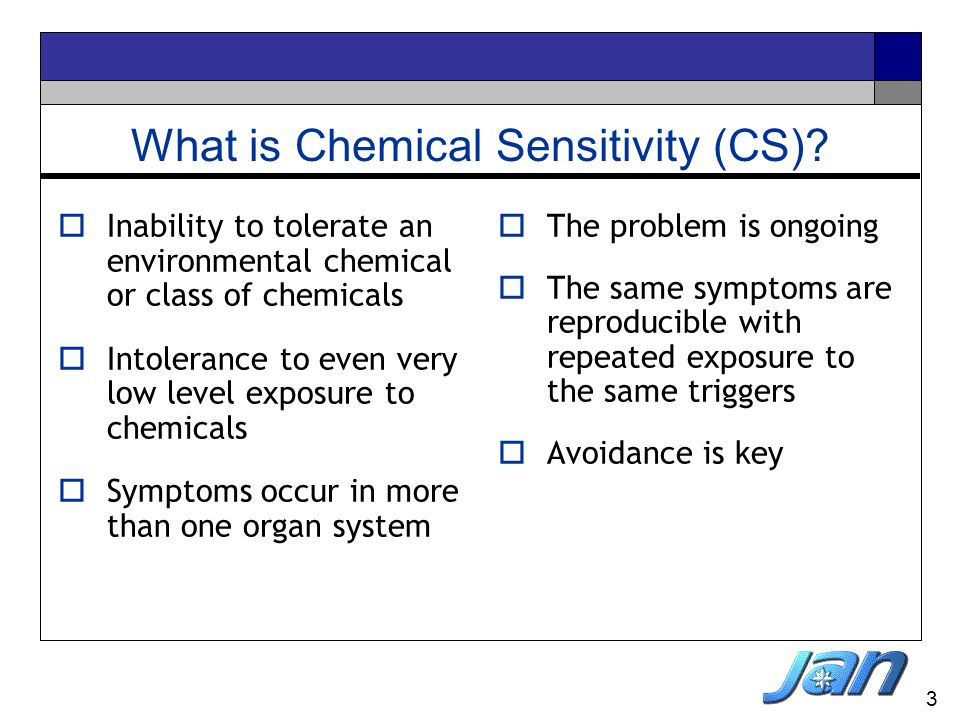 What is Chemical Sensitivity (CS)