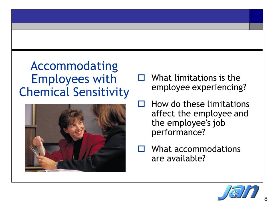Accommodating Employees with Chemical Sensitivity