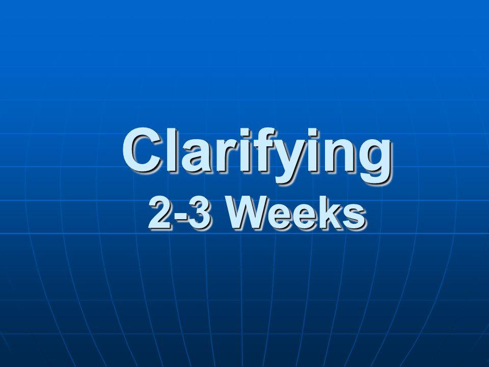 Clarifying 2-3 Weeks
