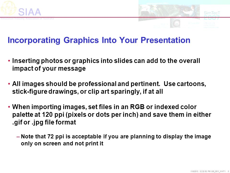 Incorporating Graphics Into Your Presentation