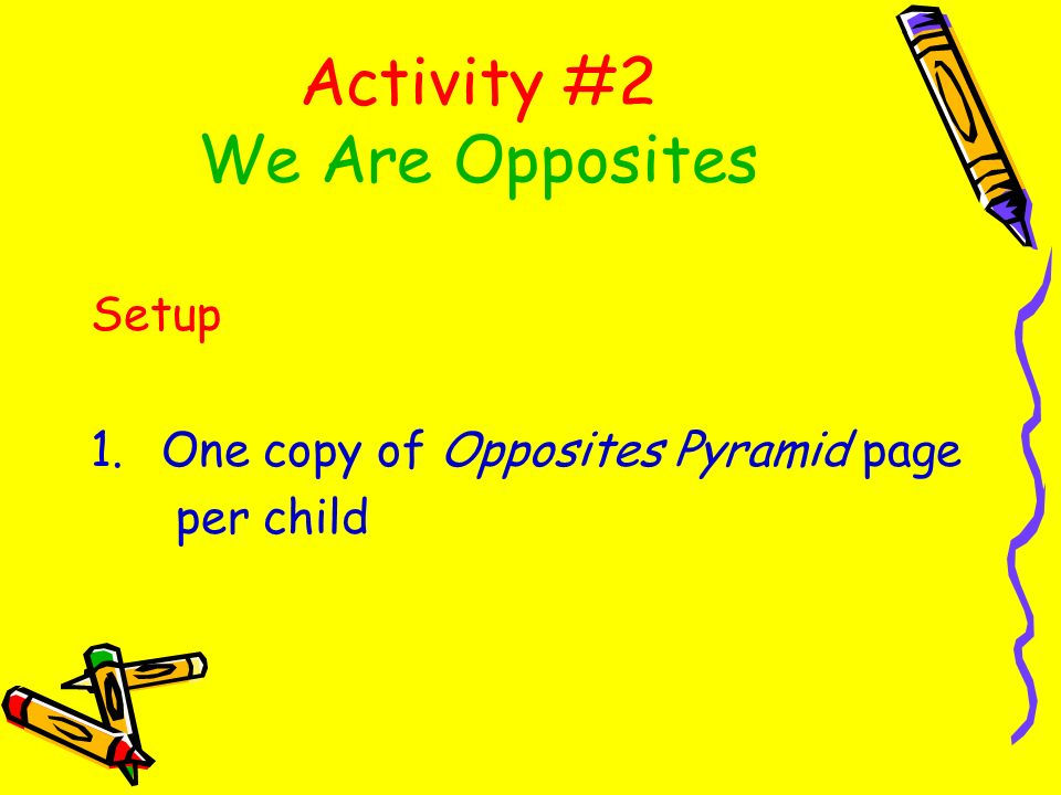 Activity #2 We Are Opposites