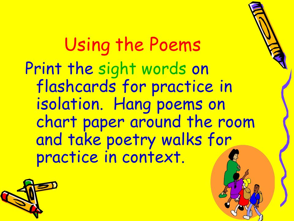 Using the Poems