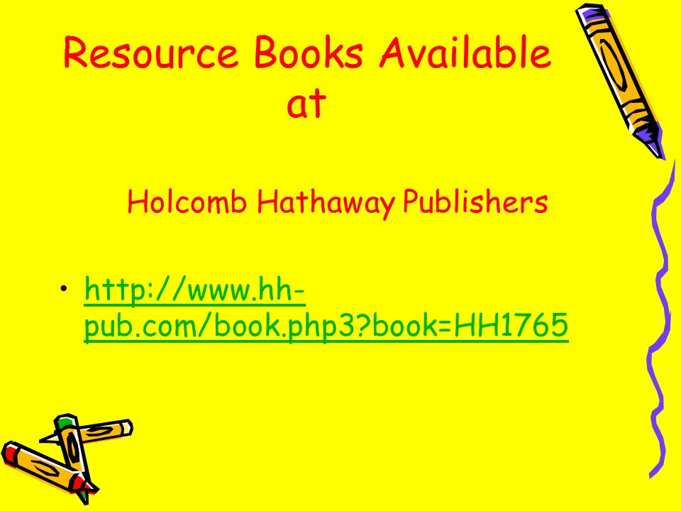 Resource Books Available at