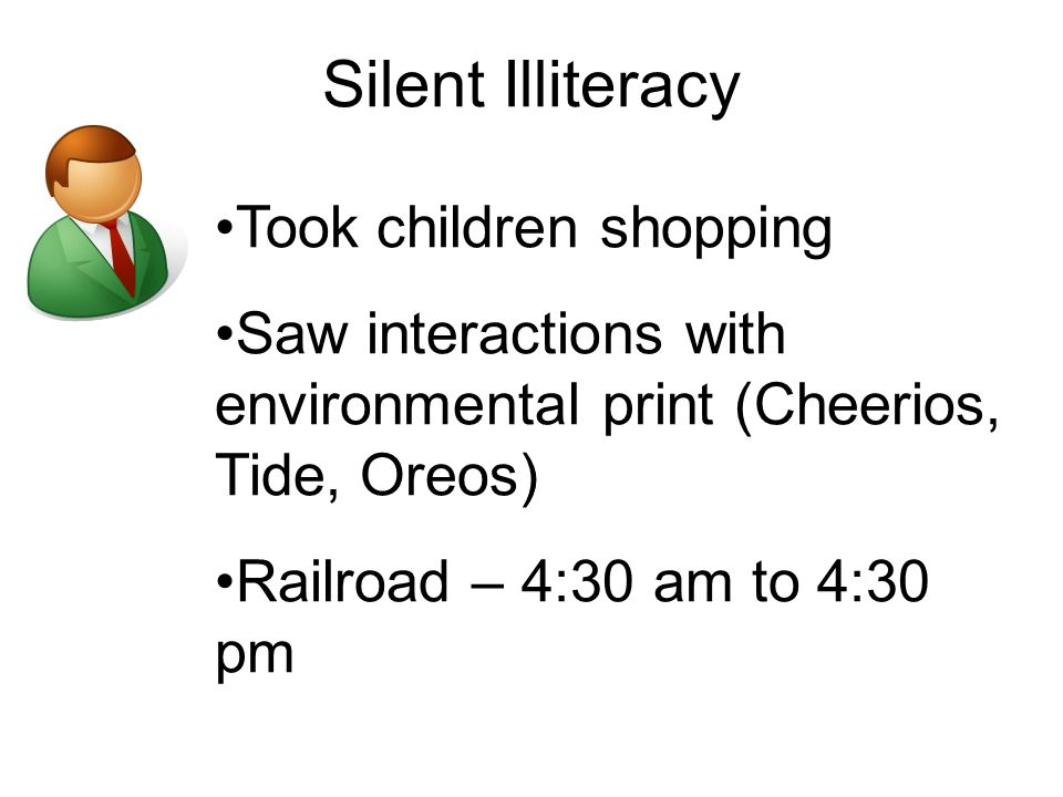 Silent Illiteracy Took children shopping