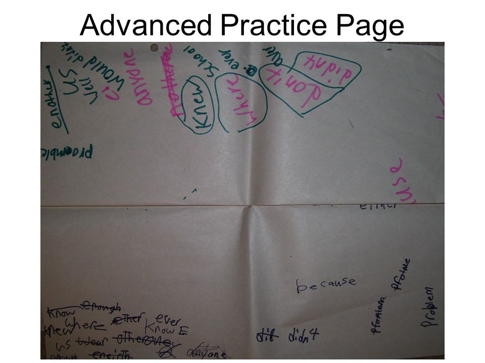 Advanced Practice Page