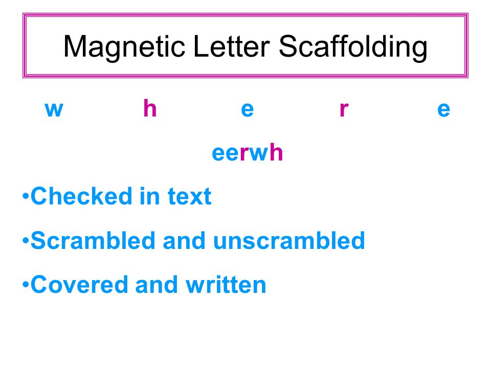 Magnetic Letter Scaffolding