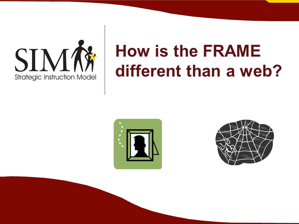 How is the FRAME different than a web