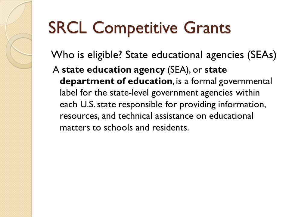 SRCL Competitive Grants