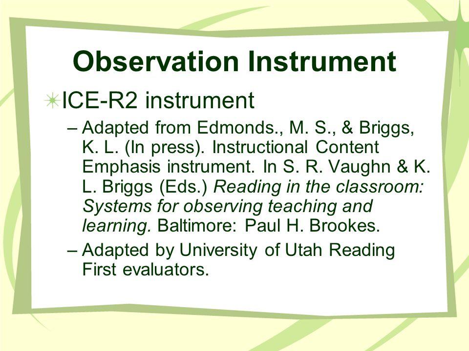 Observation Instrument