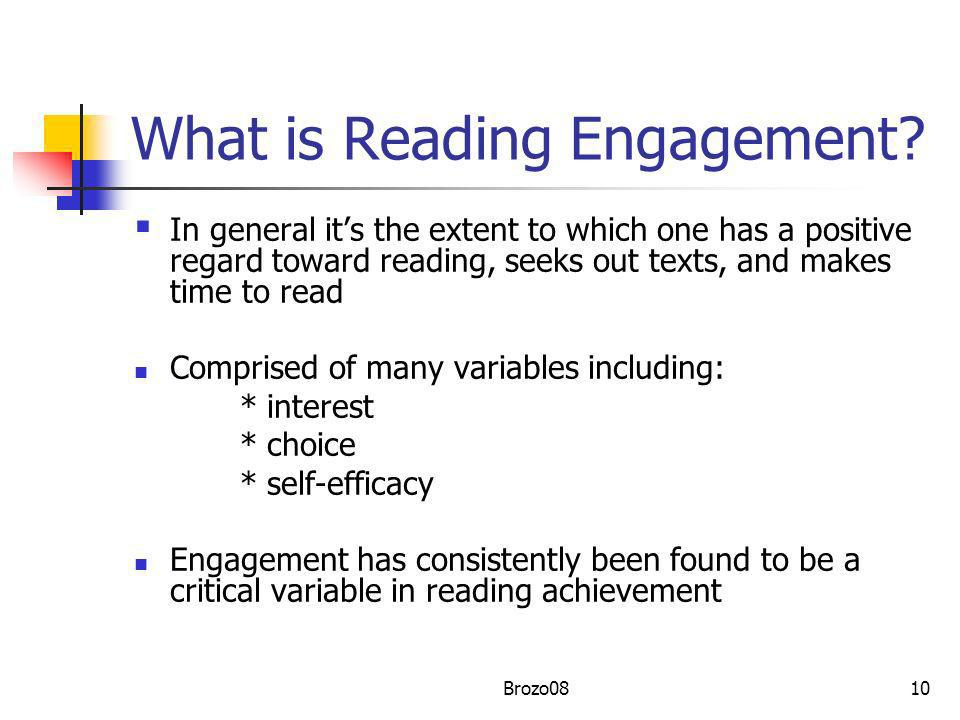 What is Reading Engagement