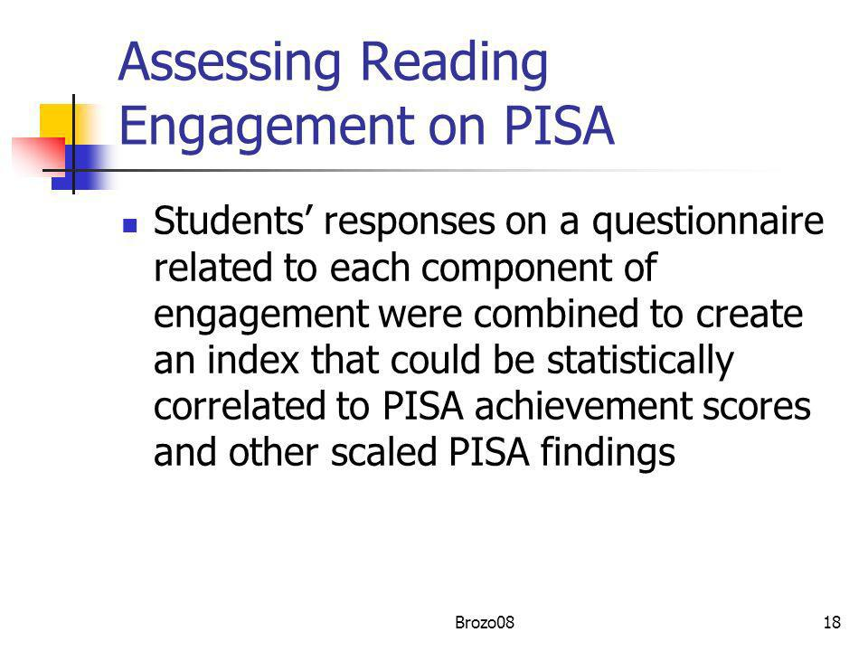 Assessing Reading Engagement on PISA