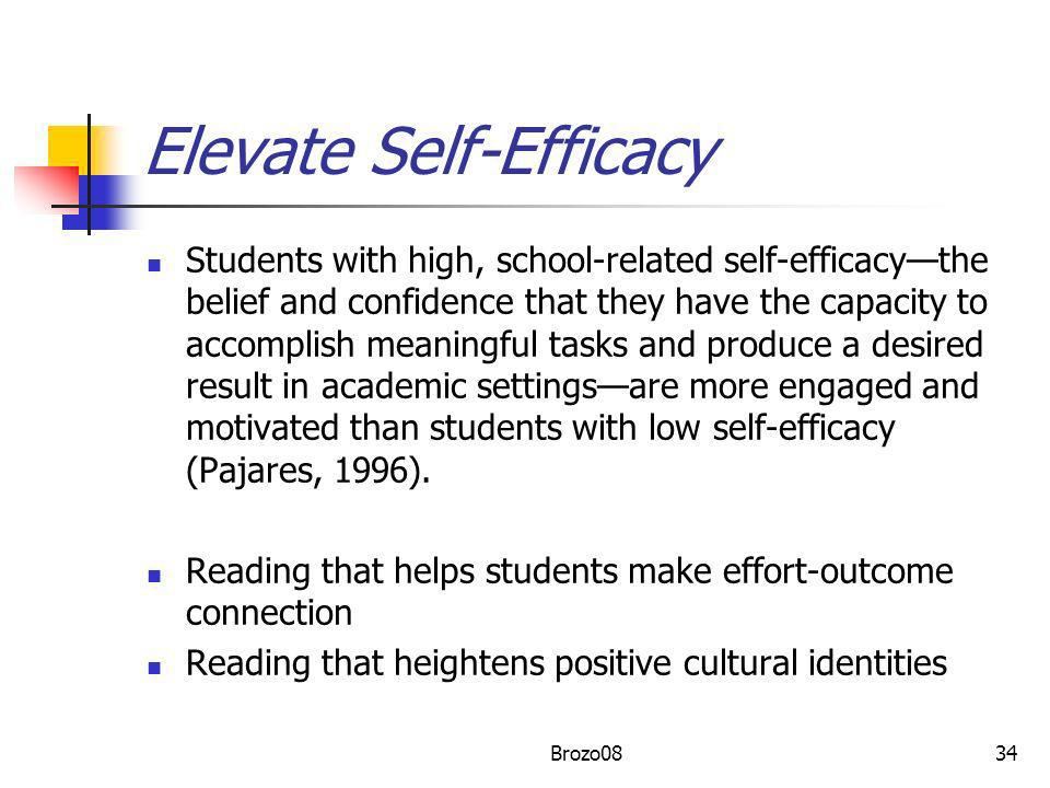 Elevate Self-Efficacy