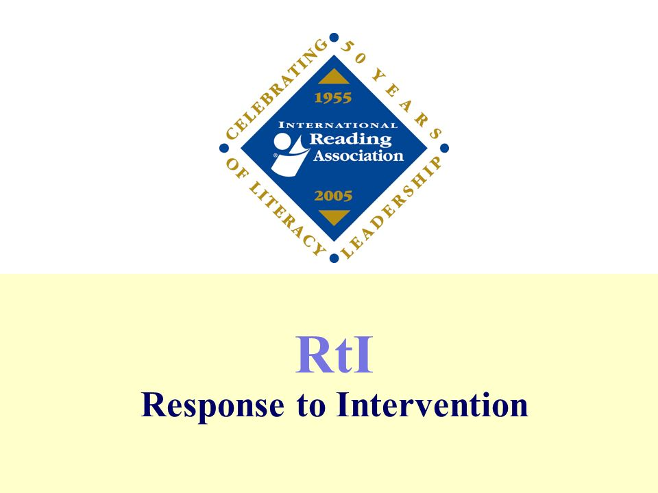 RtI Response to Intervention