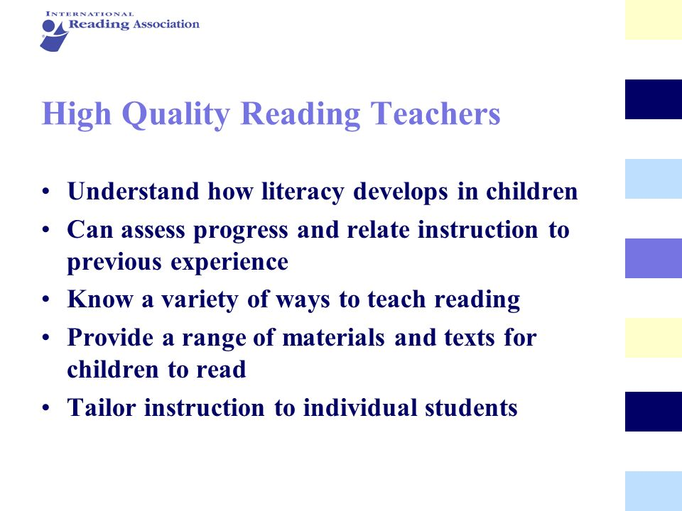 High Quality Reading Teachers